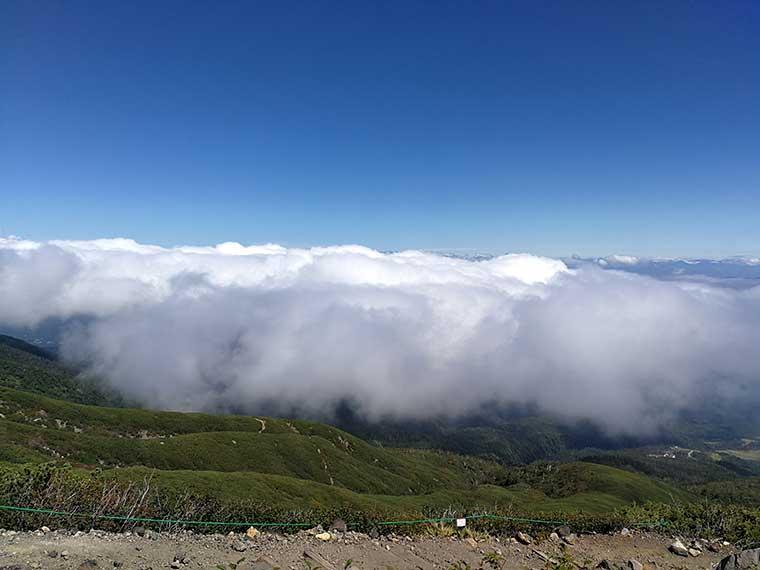 御嶽山の天気がよくなってきました