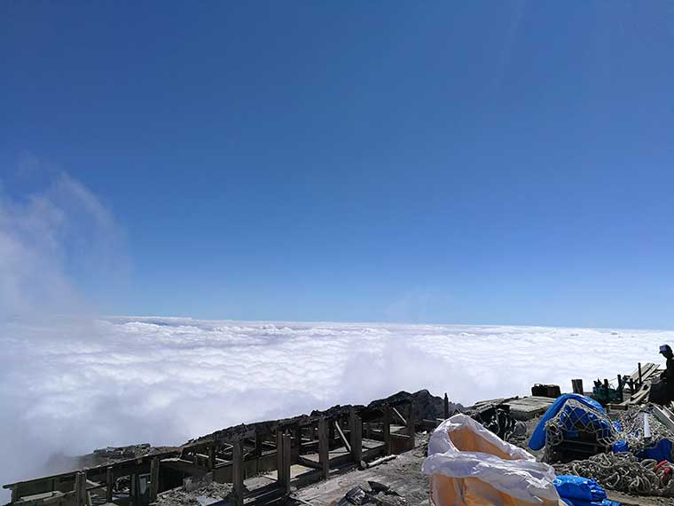 御嶽神社奥宮近くの雲