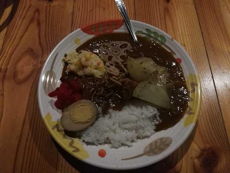 西駒山荘の夕食