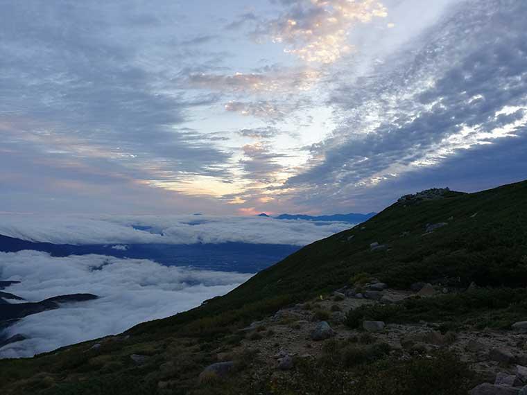 西駒山荘の朝