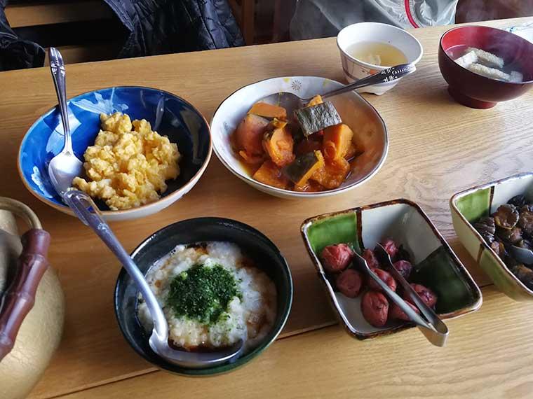 西駒山荘の朝食