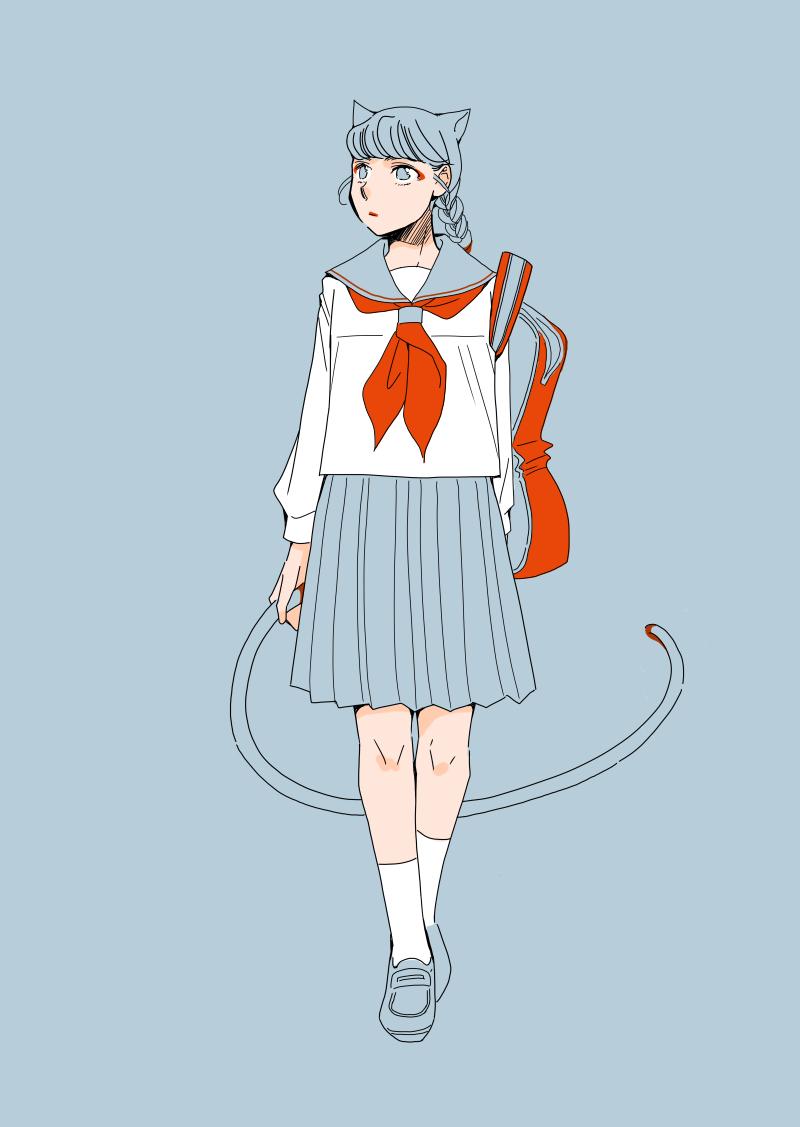 女子高生のイラスト