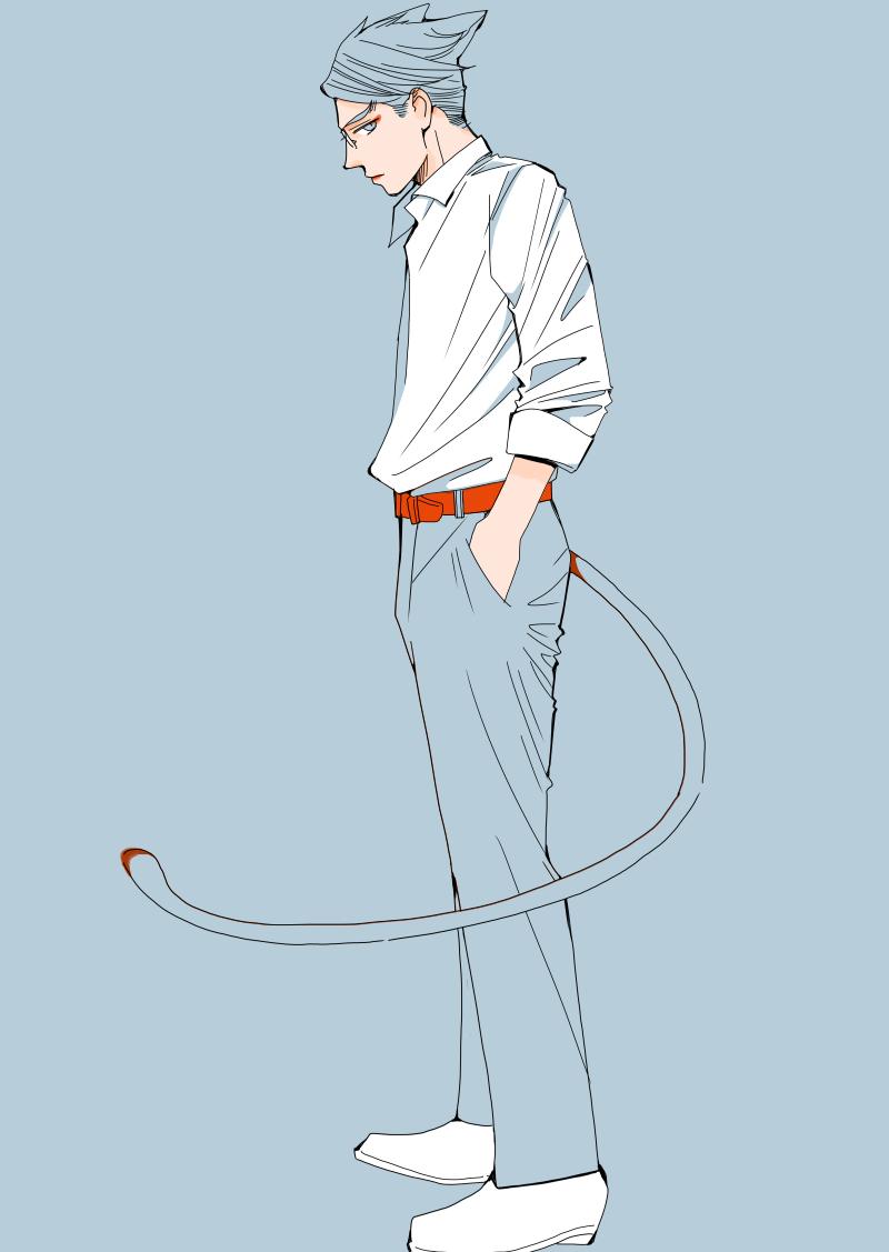 男子高生のイラスト